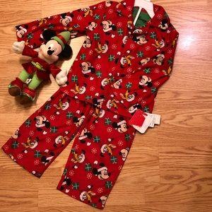 Mickey Disney Christmas PJs 4T NWT